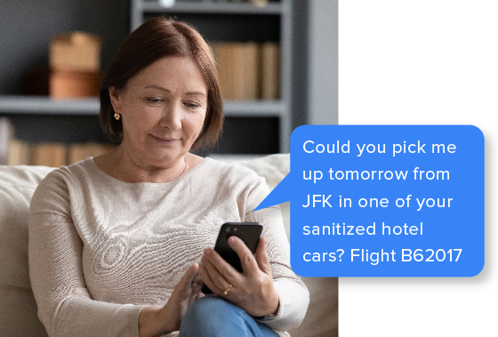 Could you pick me up tommorrow from JFK in one of your sanitized hotel cars? Flight B62017